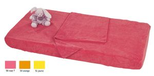 Déstockage Combi drap éponge - rose 50 x 100