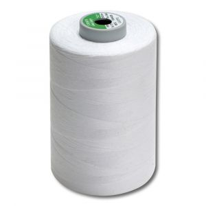 Cône de 5000 m fil - polyester/coton blanc