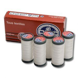 Boite de 5 bobines de 120 m - polyester blanc