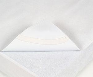 Alèze 100% coton éponge enduit polyurétane avec élastiques