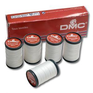 Boite de 5 bobines de 500 m - polyester blanc