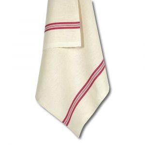Torchon métis avec attache - Liteaux rouge